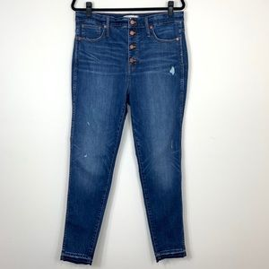 "Madewell; 10"" High-Rise Skinny Jeans"